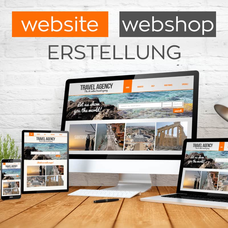 Webdesign, Website erstellen, Webshop, Werbeagentur, Social Media Marketing